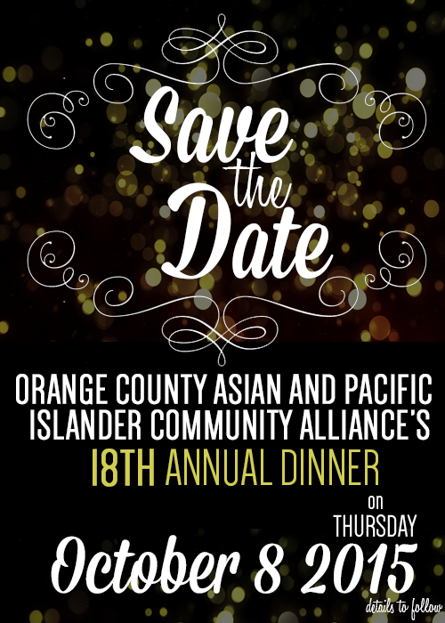 save the date - annual dinner 2015