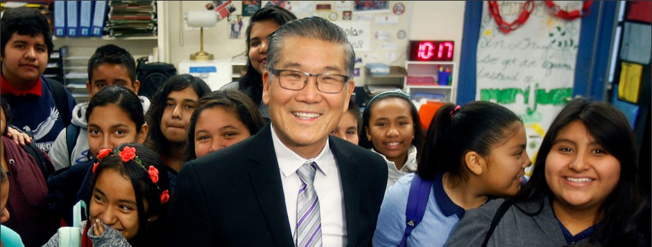 ANAHEIM-CA-JANUARY 5, 2015: Anaheim Union High School District Superintendent Michael Matsuda is photographed in a classroom  on Tuesday, January 5, 2015. (Christina House / For Education Week)