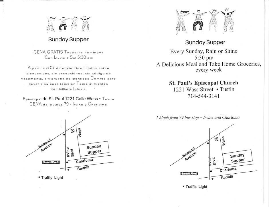 Free Sunday Supper