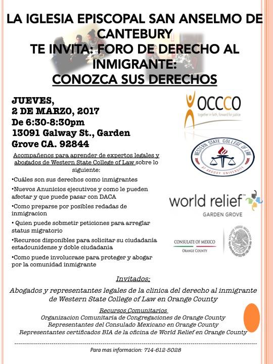Foro Derecho al Inmigrante 3.02.17 Spanish.jpg